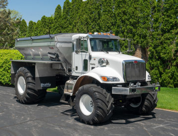ag truck with precleaner